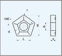 Пластина пятигранная 10124-110408 ГОСТ 19065-80 10114 (PNUM) 10124 (PNMM)
