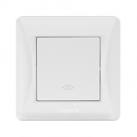 VIDEX BINERA Выключатель наружный 1кл проходной белый (VF-BNS11P-W) (12/12