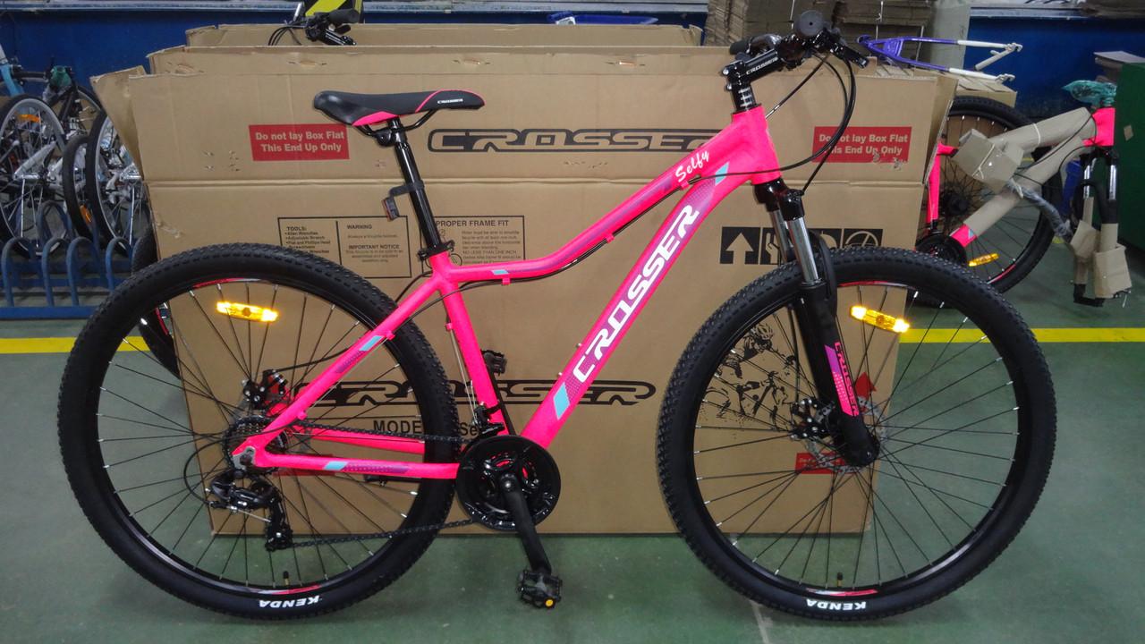 """Горный велосипед 26 дюймов Crosser Selfy рама 16,9""""  PINK"""