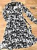 Цветочное воздушное платье из шифона 42-48 (в расцветках), фото 3