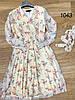 Цветочное воздушное платье из шифона 42-48 (в расцветках), фото 2
