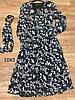 Цветочное воздушное платье из шифона 42-48 (в расцветках), фото 5