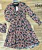 Цветочное воздушное платье из шифона 42-48 (в расцветках), фото 7