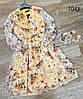 Цветочное воздушное платье из шифона 42-48 (в расцветках), фото 6