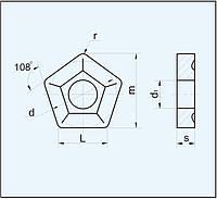 Пластина пятигранная 10124-130412 ГОСТ 19065-80 10114 (PNUM) 10124 (PNMM)