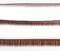 Ресницы, синтетика. Коричневые, 8 мм. Длина ленты 19 см.