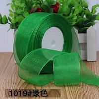 Органза 5 см , цвет зеленый