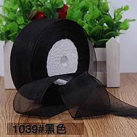 Органза 5 см , цвет черный