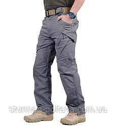 Штани чоловічі тактичні Urban Tactical міський стиль колір сірий склад спандекс і бавовна