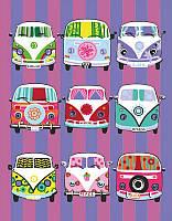 Набор, акриловая живопись по номерам, ''Hippy buses'', ROSA START