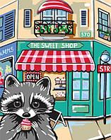 Набор, акриловая живопись по номерам, ''Sweet raccoon'', ROSA START