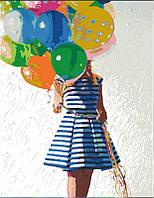 Набор, техника акриловая живопись по номерам, ''Яркие шары'', ROSA START