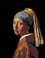 Набор-стандарт, техника акриловая живопись по номерам, ''Девушка с жемчужной сережкой'', ROSA START