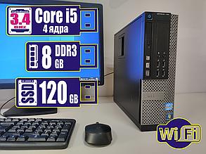 Системный блок компьютер ПК DELL Core i5/8Gb DDR3/120Gb SSD +Bonus WiFi, фото 2
