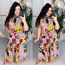 Модное легкое летнее платье,размеры:50-52,54-56.