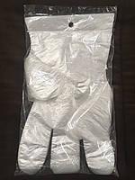 Одноразовые полиэтиленовые перчатки отрывные размер L (100 шт/уп)