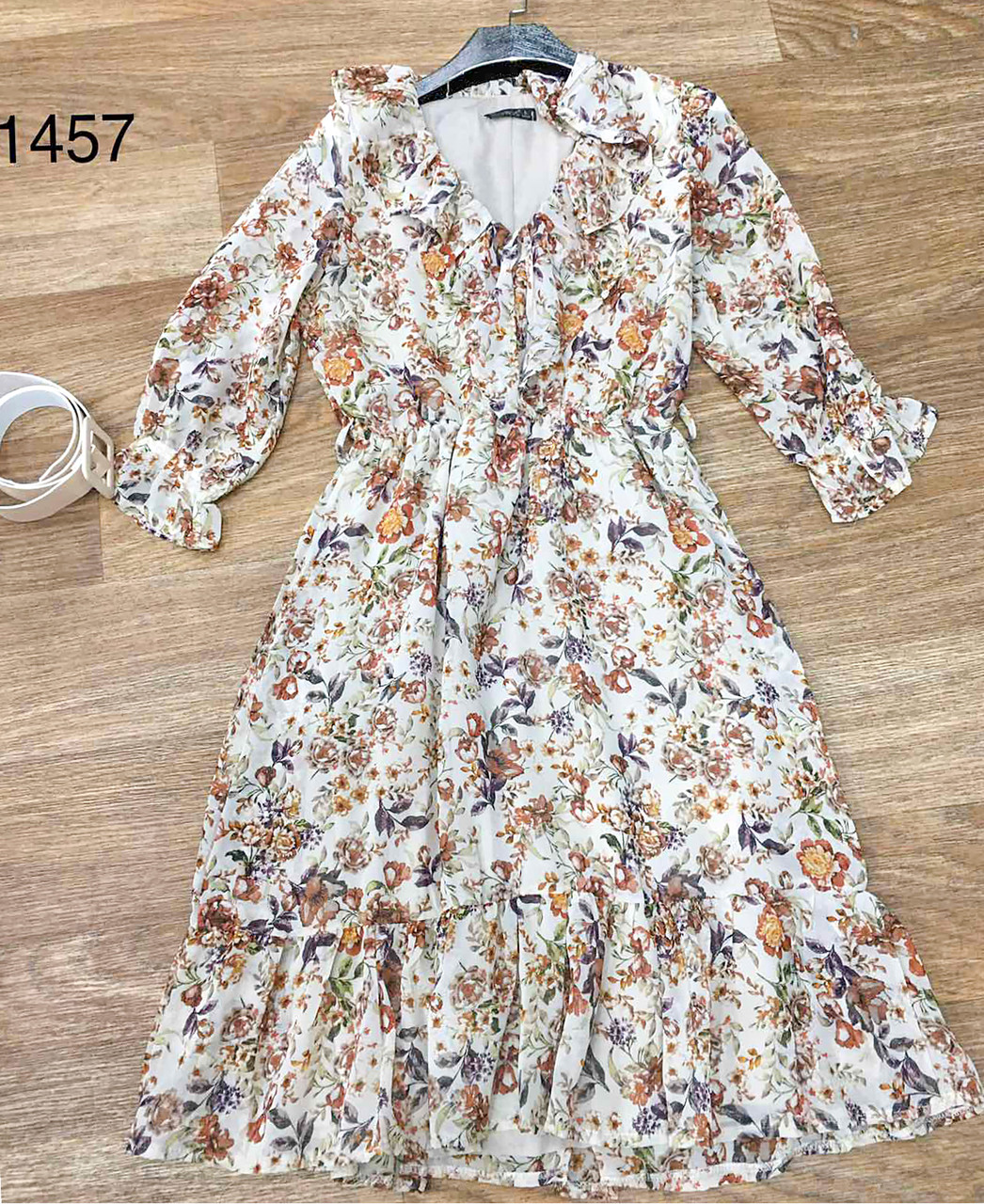 Романтичное шифоновое платье с рюшами (42-46)