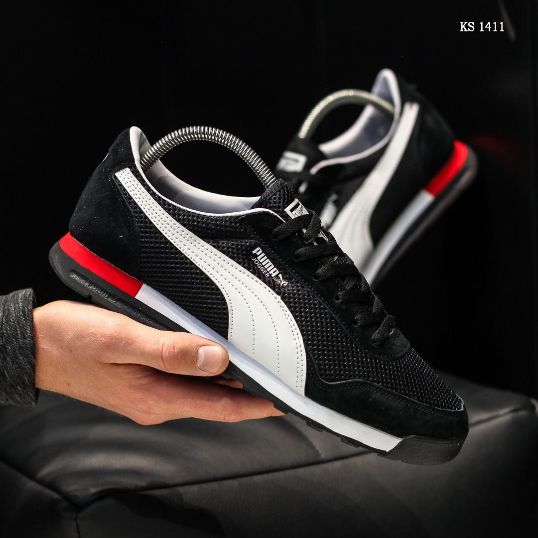 Мужские кроссовки Puma Jogger (черные) KS 1411