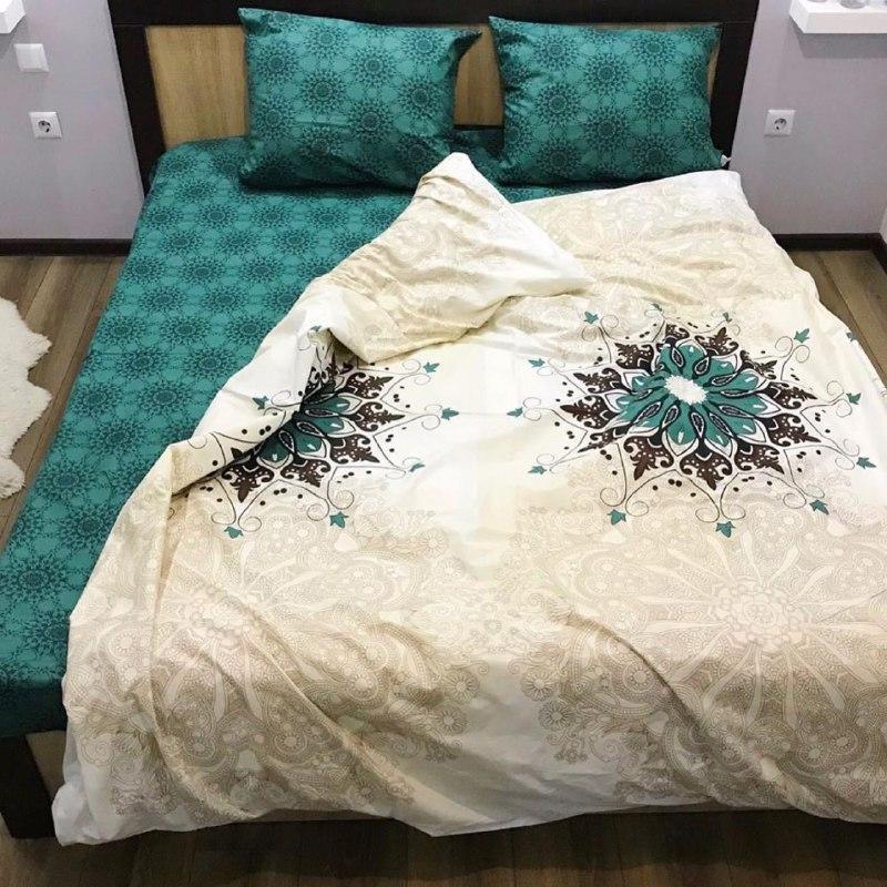 Комплект двуспального постельного белья с абстракцией Маракеш