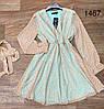 Короткое платье с длинным поясом 42-46 (в расцветках), фото 4