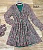 Короткое платье с длинным поясом 42-46 (в расцветках), фото 5