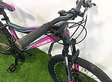 """Горный велосипед 26 дюймов Crosser Sweet рама 16"""" GREY-PINK, фото 2"""