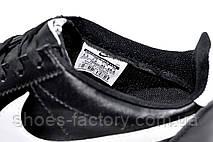 Мужские кроссовки в стиле Nike Cortez, Black\White (Кожа), фото 3