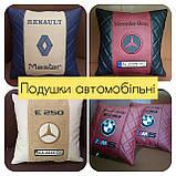 Подушки с логотипом, госномером, подушка бабочка на подголовник в авто, автоаксессуары, фото 8