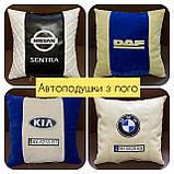 Подушки с логотипом, госномером, подушка бабочка на подголовник в авто, автоаксессуары, фото 4