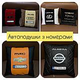 Подушки с логотипом, госномером, подушка бабочка на подголовник в авто, автоаксессуары, фото 10