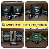 Подушки с логотипом, госномером, подушка бабочка на подголовник в авто, автоаксессуары, фото 6