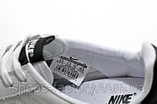 Мужские белые кроссовки в стиле Nike Cortez, White (Кожа), фото 3