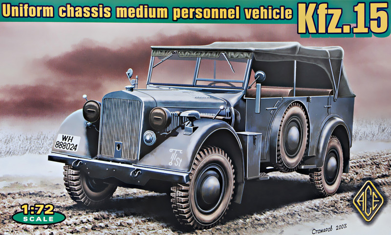 Kfz.15 uniform chassis medium vehicle (with support axle). 1/72 ACE 72258