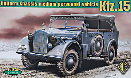 Kfz.15 uniform chassis medium vehicle (with support axle). 1/72 ACE 72258, фото 2