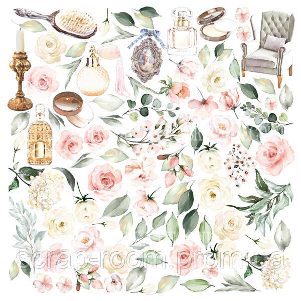 Лист с картинками для вырезания Tenderness and love 30,5х30,5 см Фабрика декора