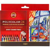 Карандаши цветные Koh-I-Noor POLYCOLOR художественные 24 цвета (3834)