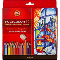 Карандаши цветные Koh-I-Noor POLYCOLOR художественные 36 цвета (3835)