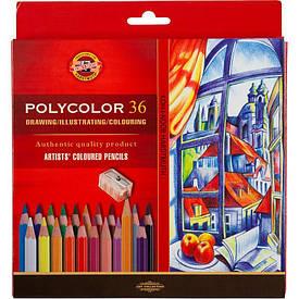 Олівці кольорові Koh-I-Noor POLYCOLOR художні 36 кольору (3835)