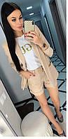 Костюм  женский пиджак  шорты, фото 1