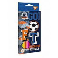 Карандаши цветные YES 12 цв. ''Football''
