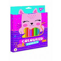 Карандаши цветные YES 24 цв. ''Cats''