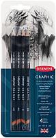 Набор графит.карандаш. Graphic Medium - Designer в блистере 4шт, Derwent