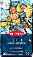 Набор цветных карандашей Studio в метал.короб. 12цв., Derwent
