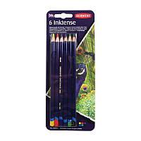 Набор чернильных карандашей Inktense, 6 цв., В блистере, Derwent