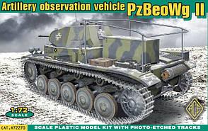 PzBeoWg II Германский командирский танк. Сборная модель в масштабе 1/72. ACE 72270