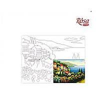 Полотно на картоні з контуром: Морські пейзажі №2 (30см*40см) ROSA START