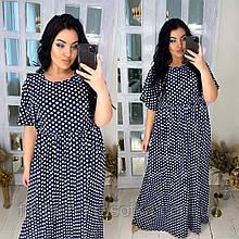 Женское свободное платье,размеры:42-44,46-48,50-52,54-56.