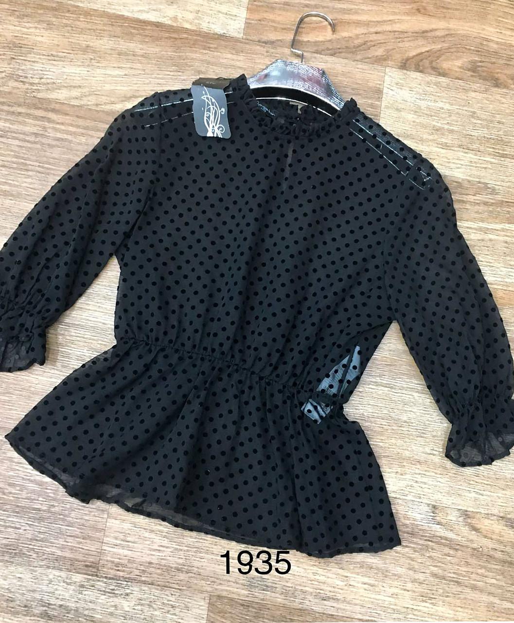 Женственная блузка приталенная (42-48)