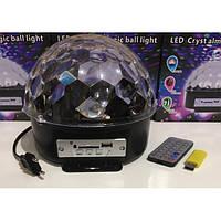 Светомузыка диско шар на стену, потолок или пол - Magic Ball Music MP3 плеер SD-5150 (Блютуз, пульт)