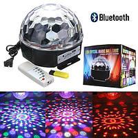 Диско шар для светомузыки MUSIC BALL USB, 30 Вт, шесть цветов, диско шар, светомузыка